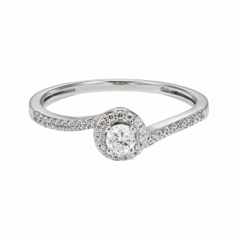 Sterling Silver Cubic Zirconia Bridal Ring